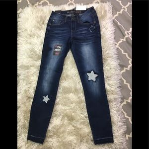 NWT🌻 Rampage blue skinny jeans mid rise